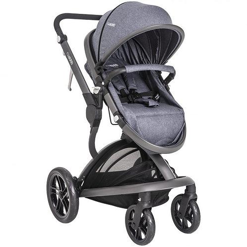 Travel System Quantum com bebê conforto Casulo click Cinza - Kiddo