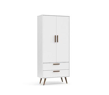 Roupeiro Retrô 2 portas branco - Matic Móveis