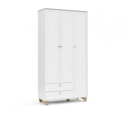 Roupeiro Zupy 3 portas branco/natural - Matic Móveis
