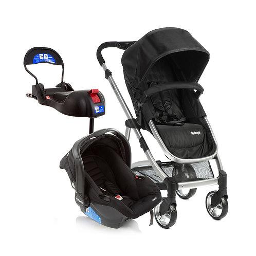 Travel System Epic Lite Trio com bebê conforto Isofix Preto - Infanti