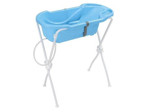 Banheira Ergonômica com Suporte Azul - Tutti Baby