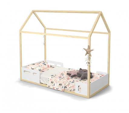 Cama Montessoriana Liv branco/natural - Matic Móveis