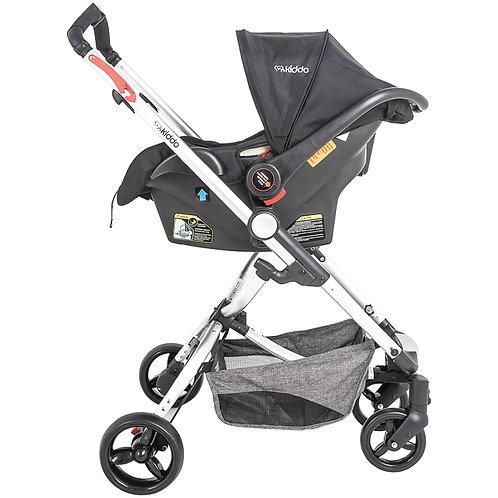 Travel System Eclipse com bebê conforto Casulo click Cinza - Kiddo