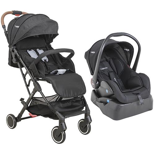 Travel System Sprint com bebê conforto Casulo click preto - Kiddo
