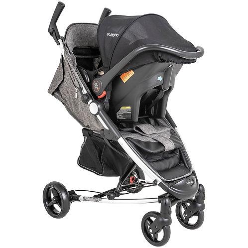 Travel System Helios II com bebê conforto Casulo click Cinza - Kiddo