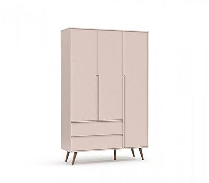 Roupeiro Retrô Clean 3 portas rose - Matic Móveis