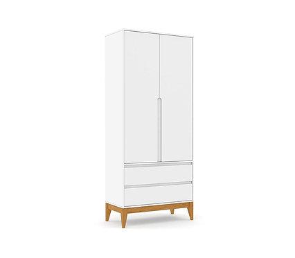 Roupeiro Nature Clean 2 portas branco - Matic Móveis