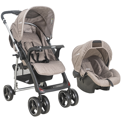 Travel System Zap II com bebê conforto Nest Bege - Kiddo