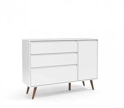 Cômoda Retrô Clean branco - Matic Móveis