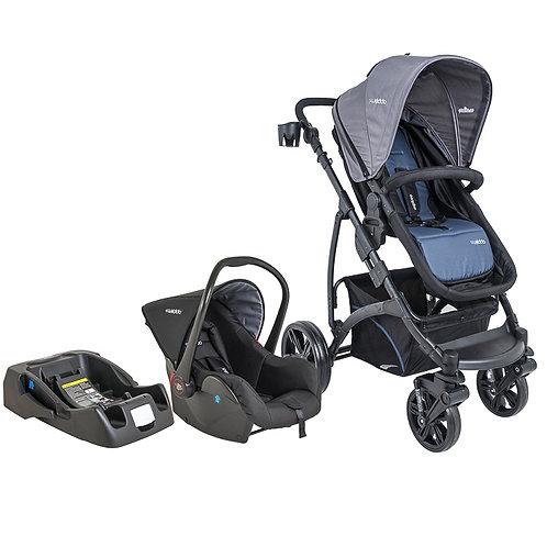 Travel System Explore com bebê conforto Casulo click Azul - Kiddo