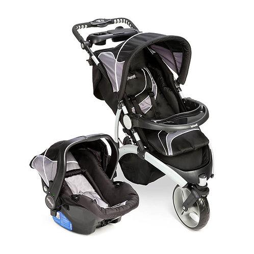 Travel System Off Road Duo com bebê conforto Isofix Prata - Infanti