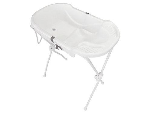 Banheira Ergonômica com Suporte Branco - Tutti Baby