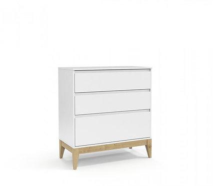 Gaveteiro Nature Clean branco/natural - Matic Móveis
