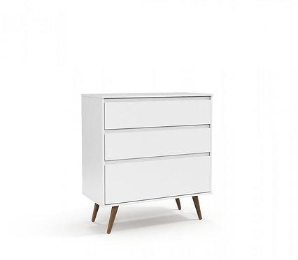 Gaveteiro Retrô Clean branco - Matic Móveis