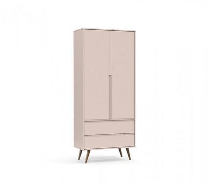 Roupeiro Retrô Clean 2 portas rose - Matic Móveis
