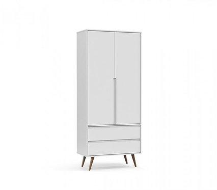Roupeiro Retrô Clean 2 portas branco - Matic Móveis