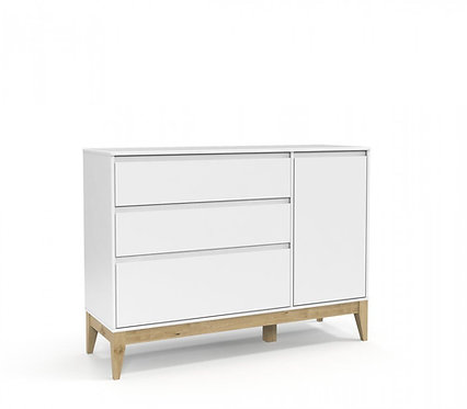 Cômoda Nature Clean branco/natural - Matic Móveis