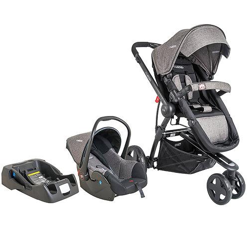 Travel System Compass III com bebê conforto Casulo click Cinza - Kiddo