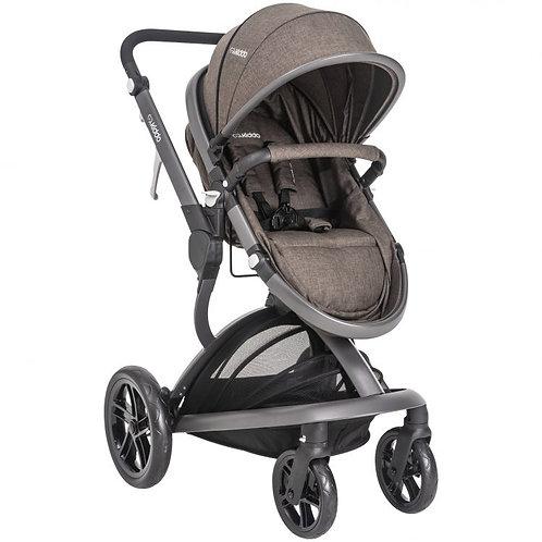 Travel System Quantum com bebê conforto Casulo click Marrom  - Kiddo