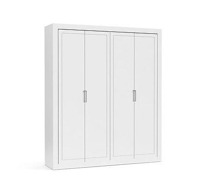 Roupeiro Tutto New 4 portas branco - Matic Móveis
