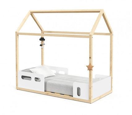 Mini Cama Montessoriana Liv branco/natural - Matic Móveis