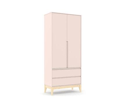 Roupeiro Nature Clean 2 portas rose/natural - Matic Móveis