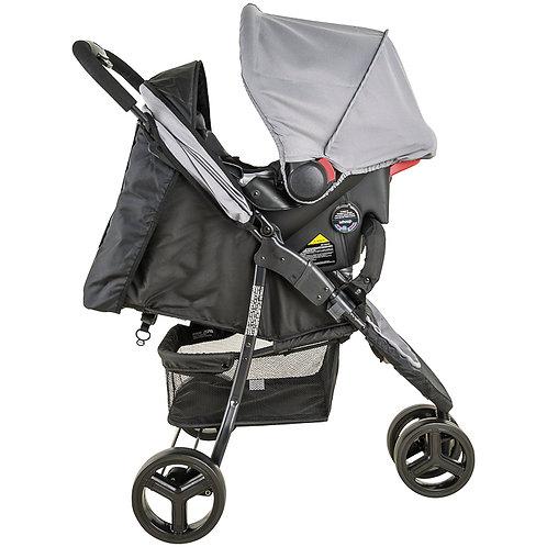 Travel System Trio com bebê conforto Cozycot Prata - Kiddo Whoop