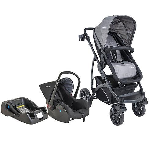 Travel System Explore com bebê conforto Casulo click Prata - Kiddo