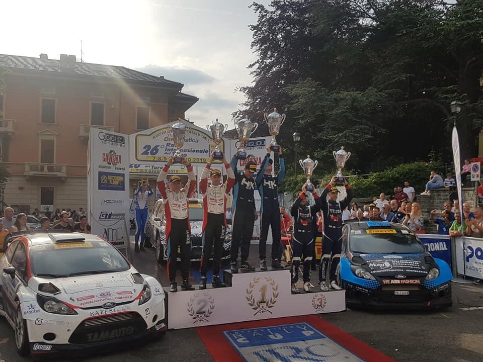 Il podio del Rally del Taro (Foto di A.R. Sport)