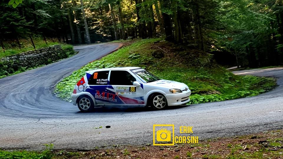 Fabio Oppici in gara al Rally della Lanterna (Foto di Erik Corsini)