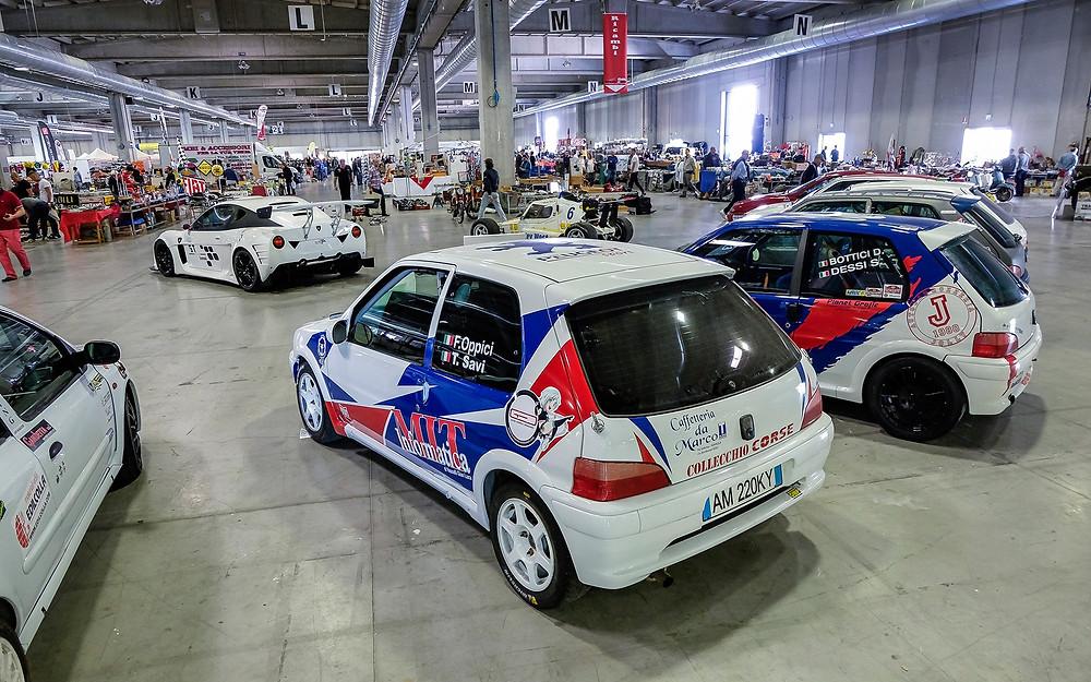La Peugeot 106 Rallye nello stand Collecchio Corse
