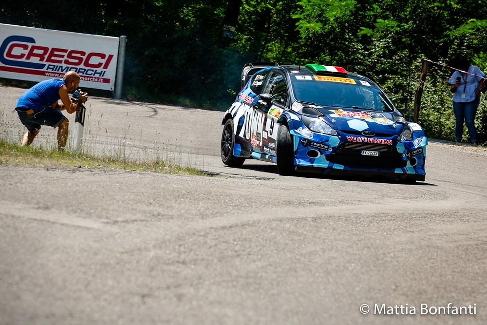 La Fiesta WRC di Paolo Porro in gara
