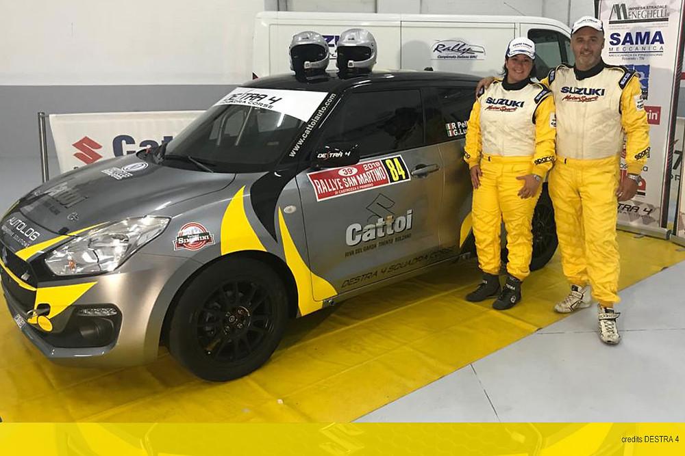 Roberto Pellè e Giulia Luraschi presentano la loro nuova vettura