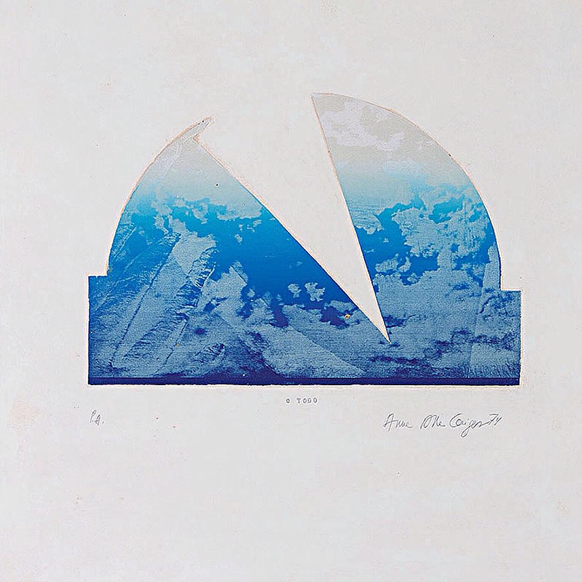 ANNA BELLA GEIGER - Título, O Todo - Serigrafia - 1974 - Dimensões 66 x 55,50 cm - Ed. P.A. - R$ 8.0