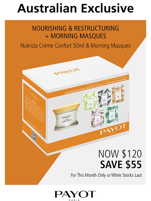 Nutricia Creme Confort and Morning Masques