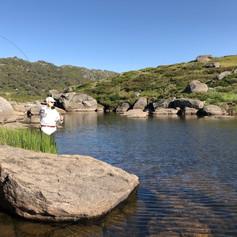 Flyfishing at Spencers Creek