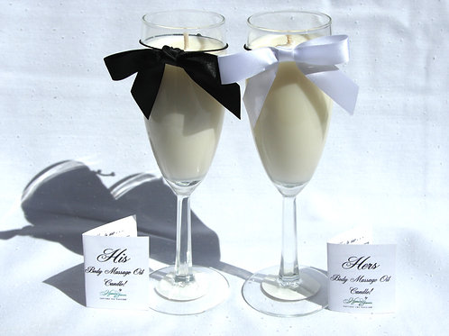 Wedding Goblet Body Candles (Set of 2)