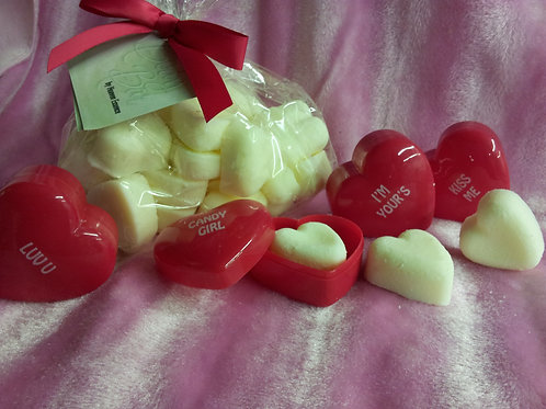 Valentines Day Lotion Body Bars - Gift Set includes 3 carry cases