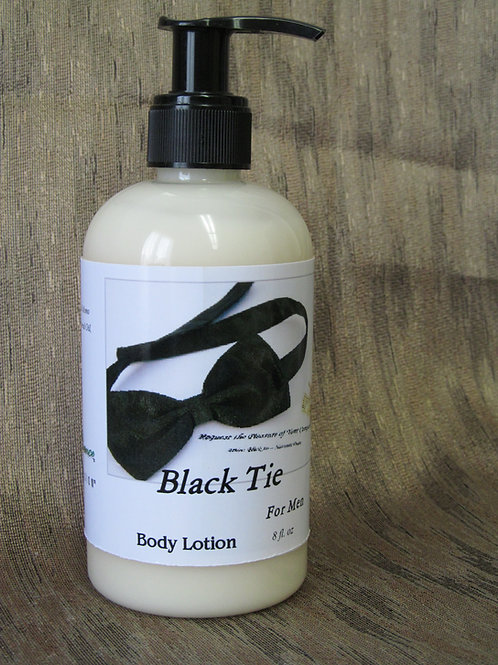 8oz Black Tie Silk Body Lotion for Men