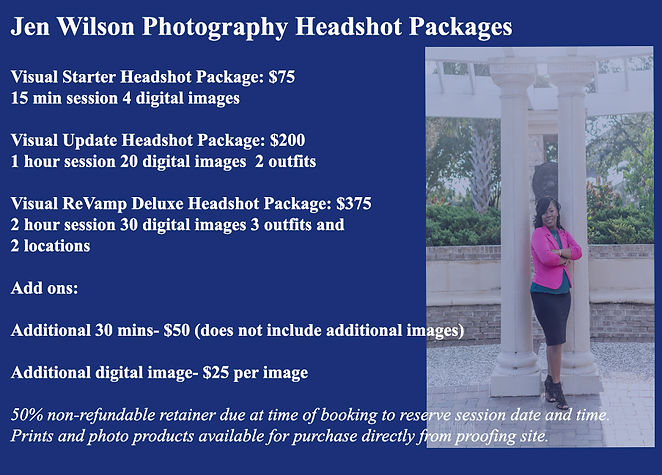 JWP 2019 Headshot Package Pricing update