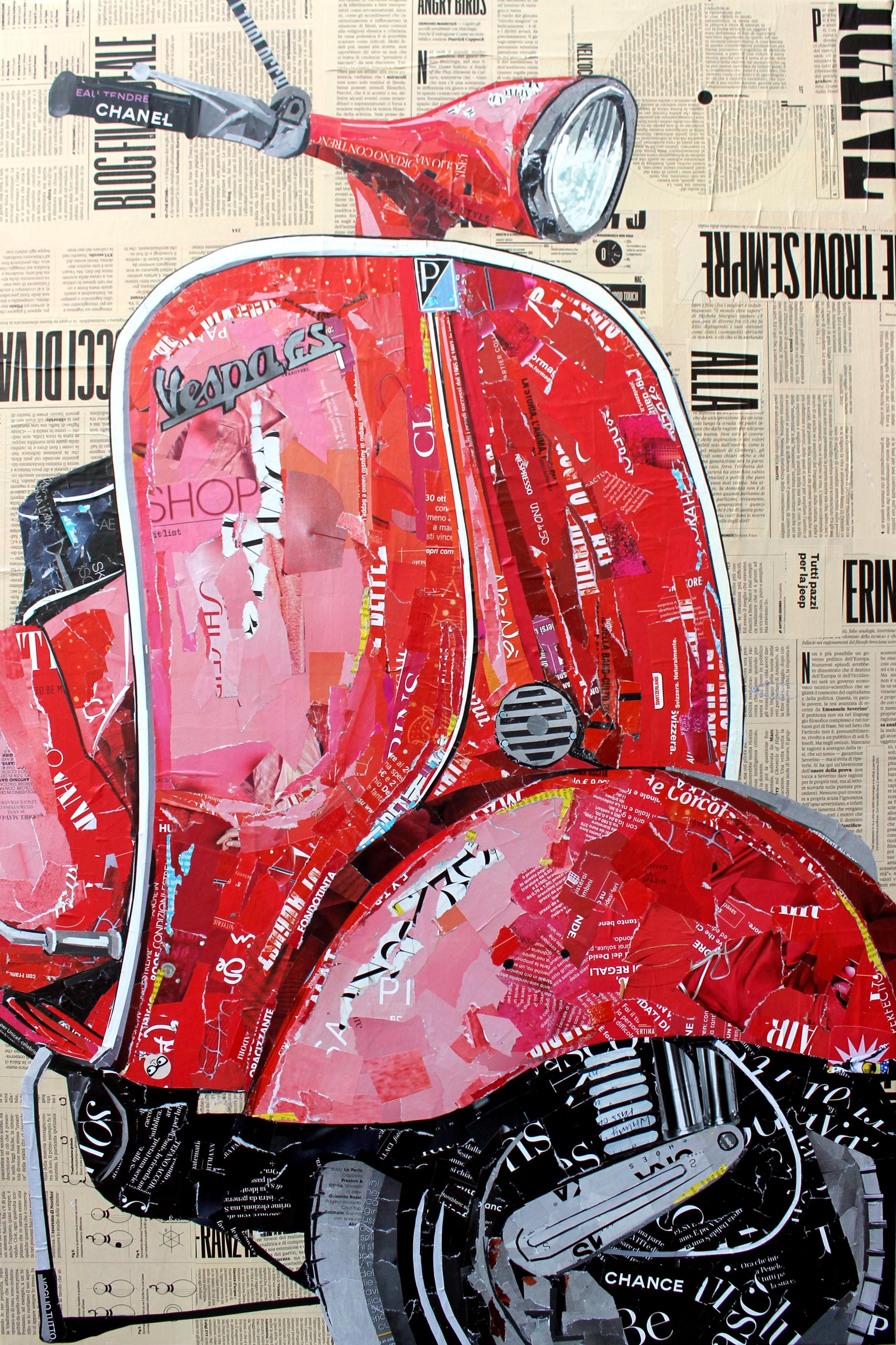 Vespa Piaggio Magazine Collage