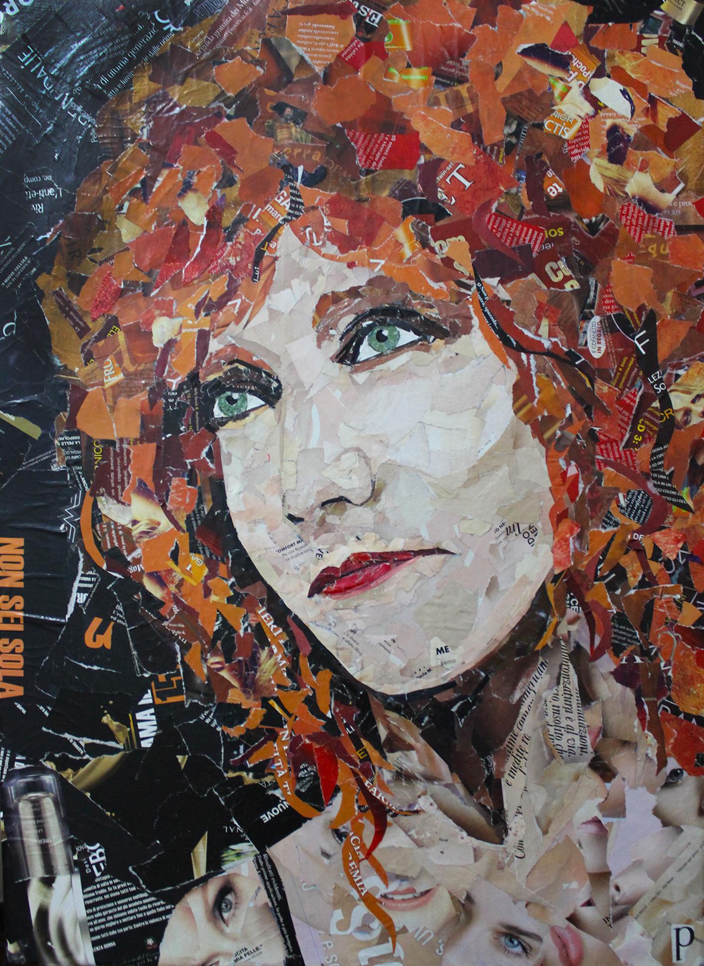 Fiorella Mannoia - Collage 50x70cm