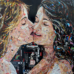 """Paper collage """"Love is Love"""""""