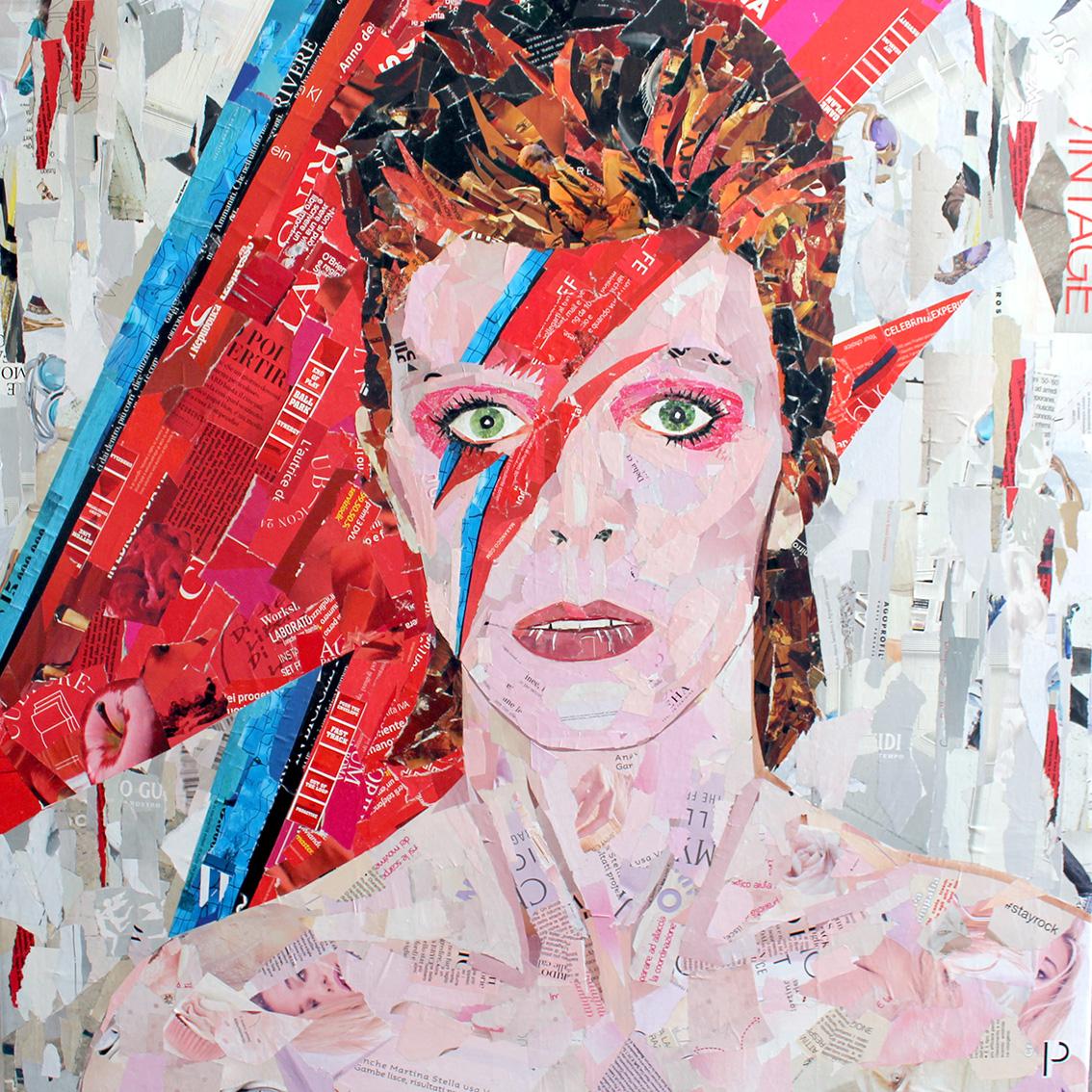 David Bowie 80x80 cm