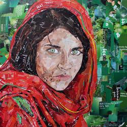 Ragazza Afgana Magazine Collage