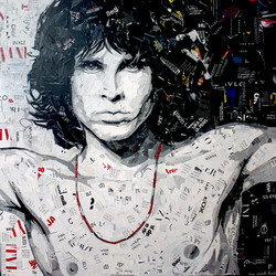 Jim Morrison 80x80 cm