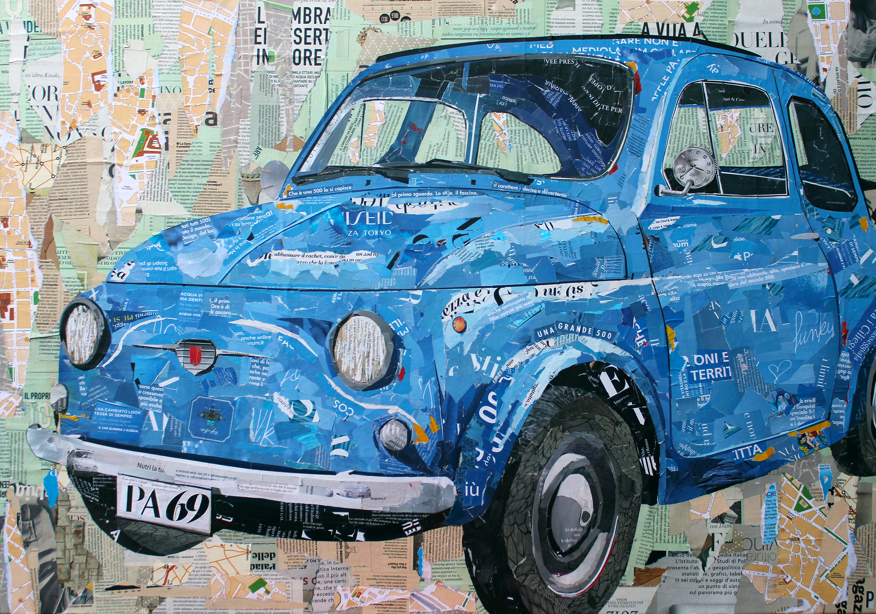 Fiat 500 Magazine Collage