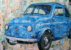 Fiat 500 Magazine Collage