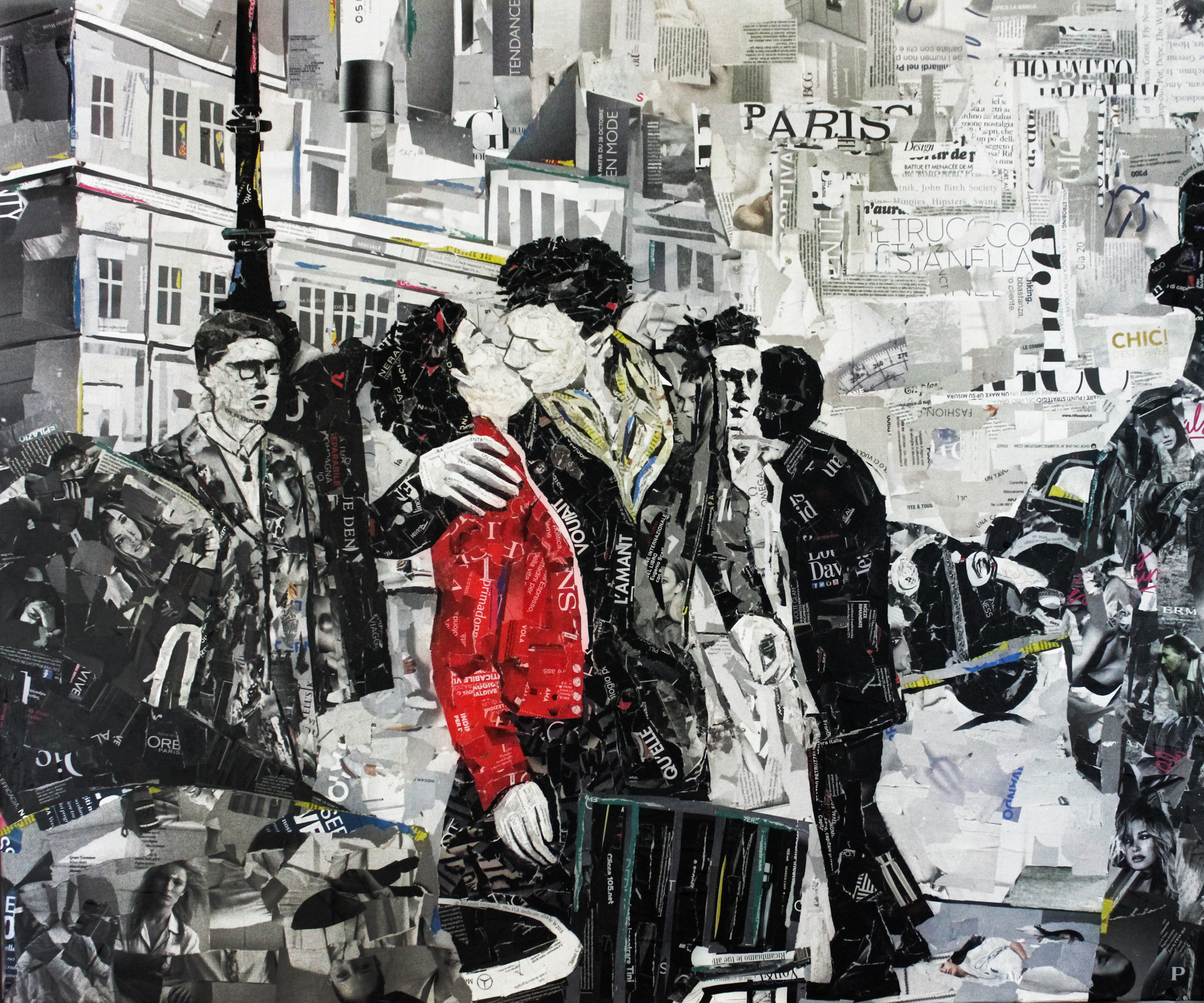 Bacio di Robert Doisneau 100x120 cm