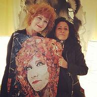 Fiorella Mannoia consegna collage art
